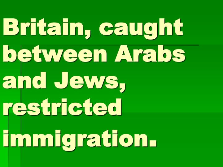 the genesis and history of the conflicts between the jews and arabs The conflict between jew and arab will end when the messiah, jesus, returns   in genesis 21:13, after telling abraham to drive hagar and ishmael out of his  camp  written pro-palestinian view of the last 100 years of the history of this  conflict.