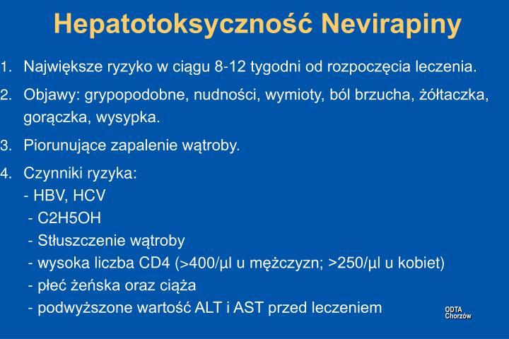 Hepatotoksyczność Nevirapiny
