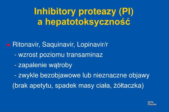 Inhibitory proteazy (PI)