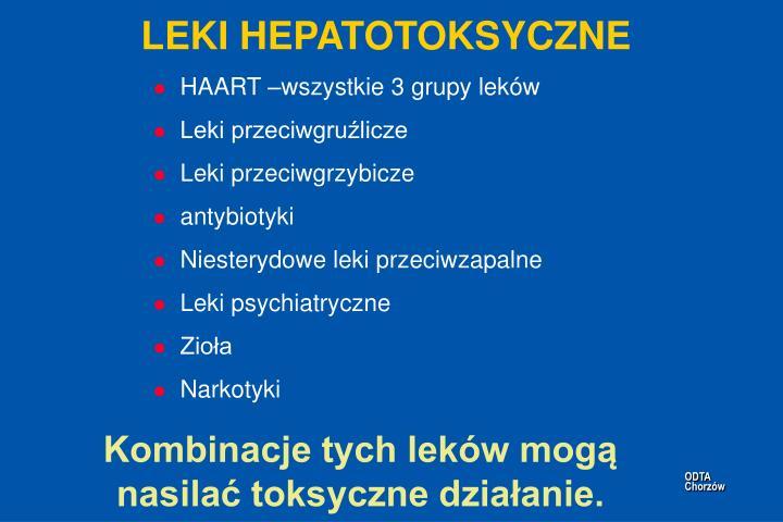 LEKI HEPATOTOKSYCZNE