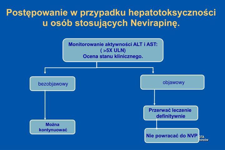 Postępowanie w przypadku hepatotoksyczności