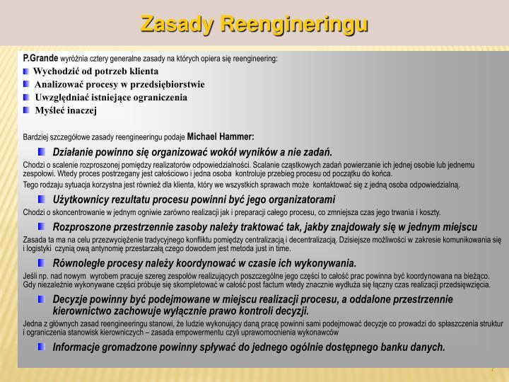 Zasady Reengineringu