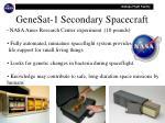 genesat 1 secondary spacecraft