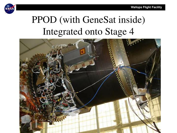 PPOD (with GeneSat inside) Integrated onto Stage 4
