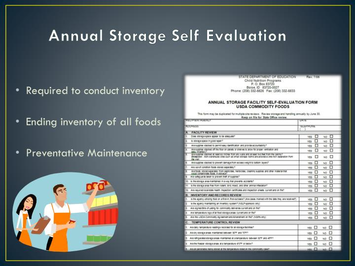 Annual Storage Self Evaluation