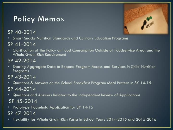 Policy Memos