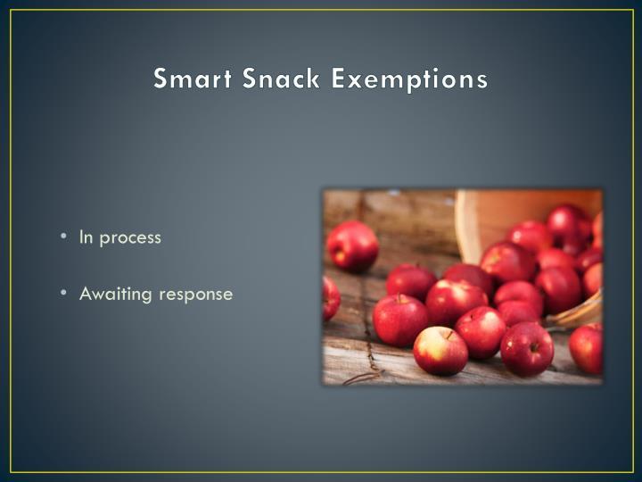 Smart Snack Exemptions