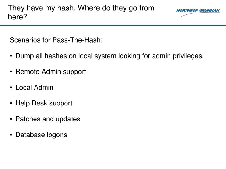 They have my hash. Where do they go from here?