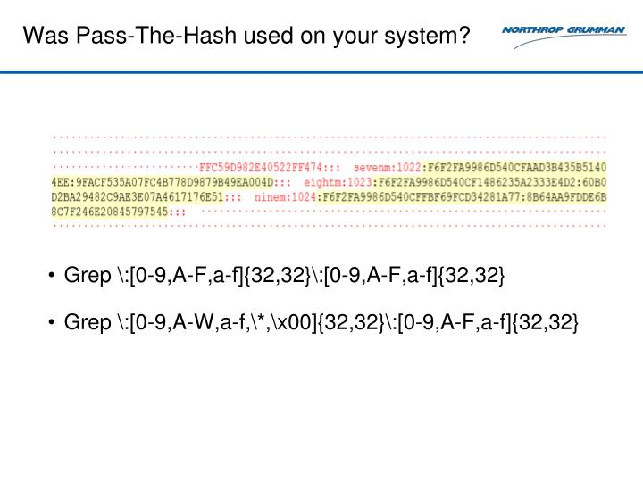 Was Pass-The-Hash used on your system?