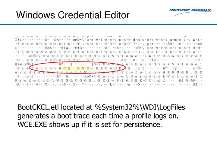 Windows Credential Editor