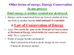 other forms of energy energy conservation