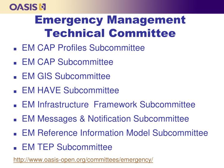 Emergency Management Technical Committee