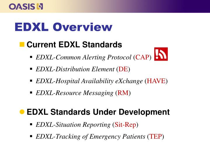 EDXL Overview