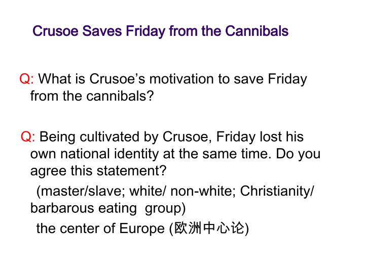 Crusoe Saves Friday from the Cannibals