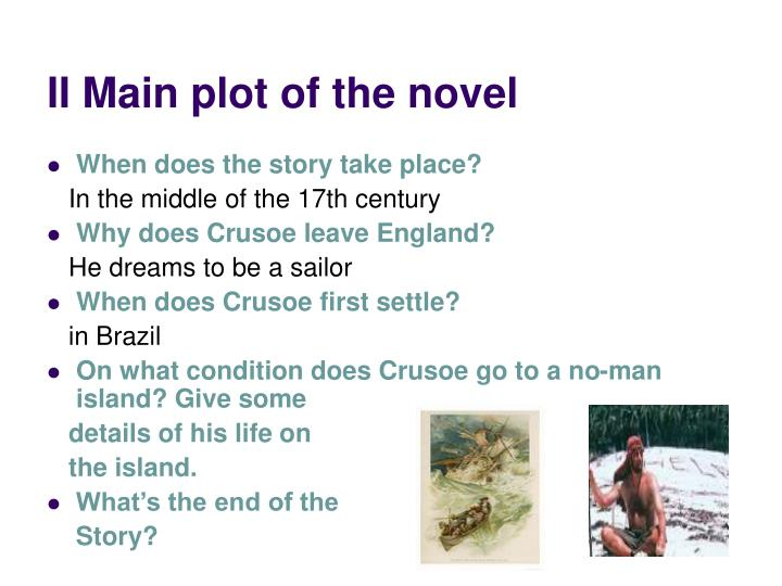 II Main plot of the novel