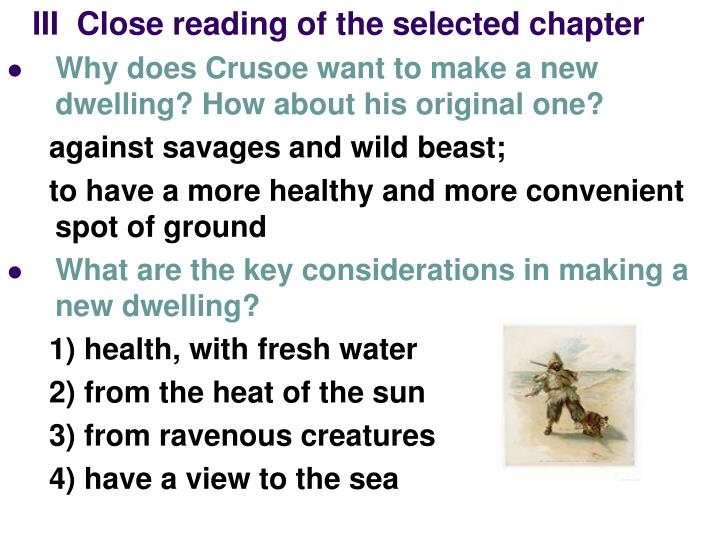 III  Close reading of the selected chapter