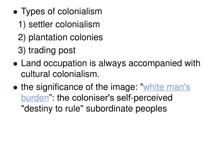 Types of colonialism