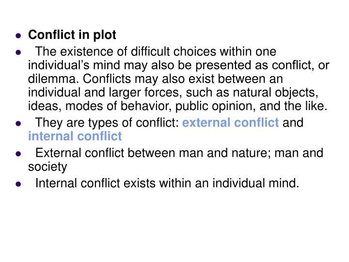 Conflict in plot