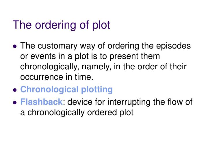 The ordering of plot