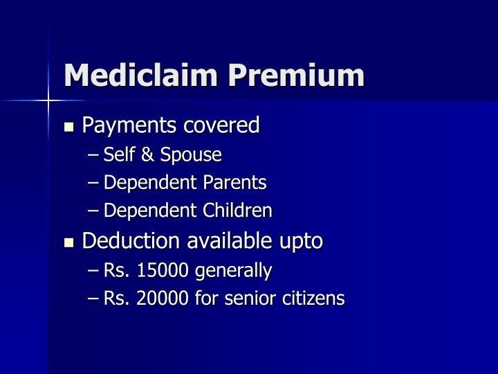 Mediclaim Premium