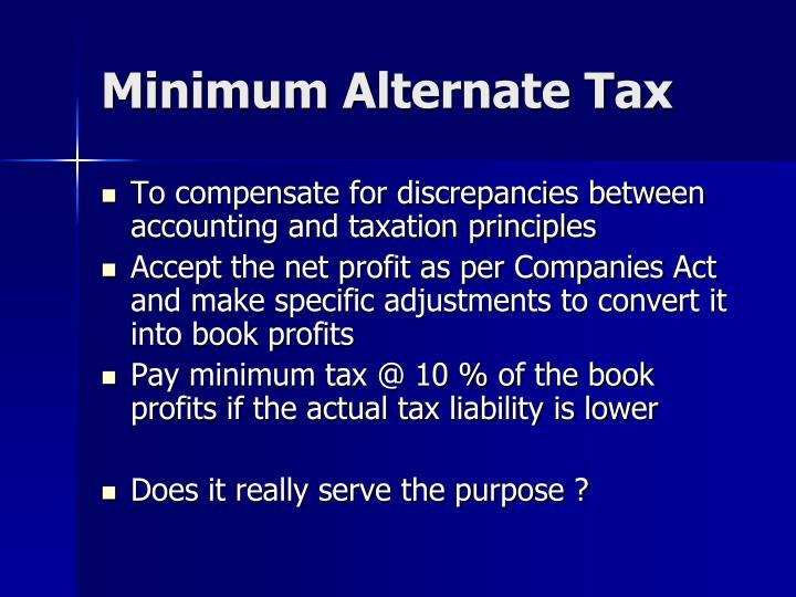 Minimum Alternate Tax