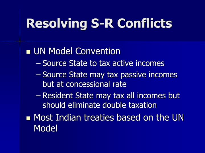 Resolving S-R Conflicts