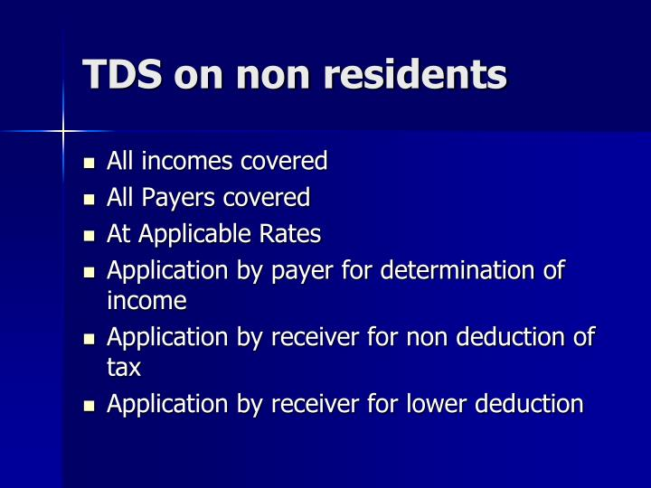 TDS on non residents
