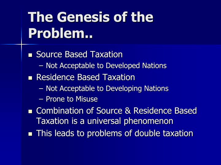 The Genesis of the Problem..