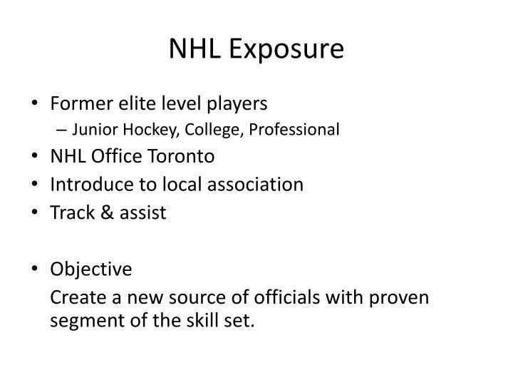 NHL Exposure