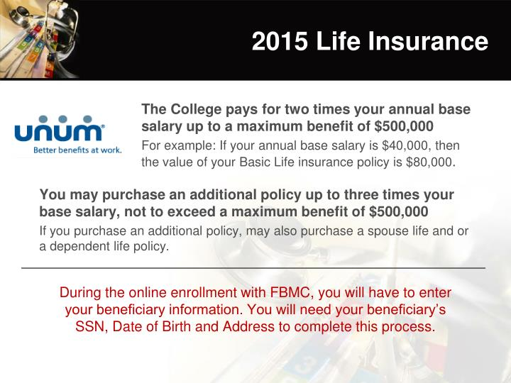 2015 Life Insurance