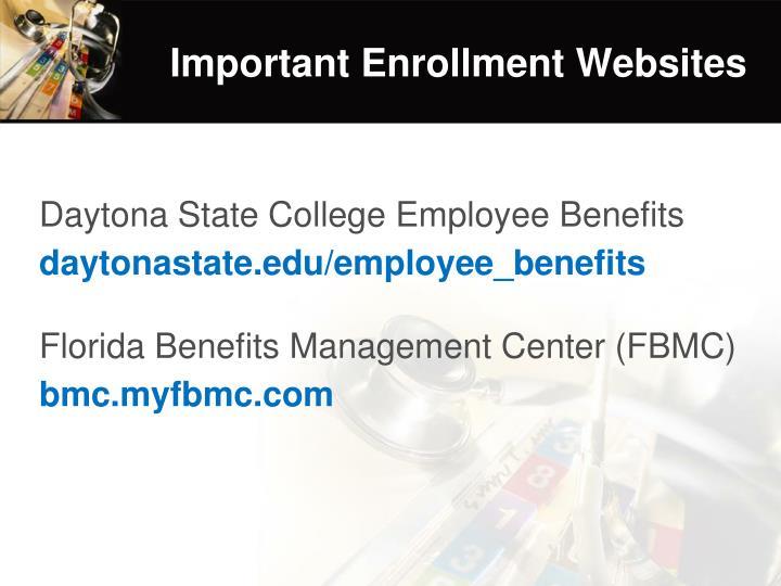 Important Enrollment Websites