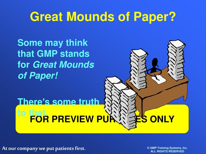 Great Mounds of Paper?