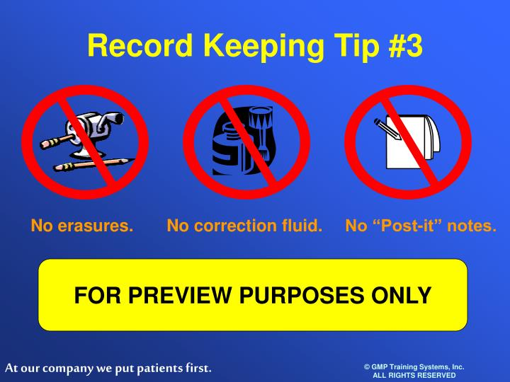Record Keeping Tip #3