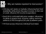 2 why are markets important for food access