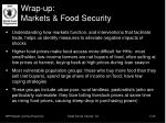wrap up markets food security