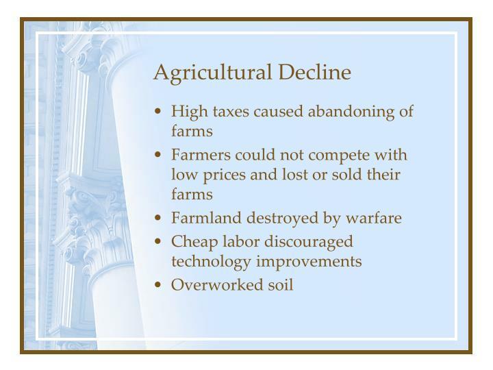 Agricultural Decline