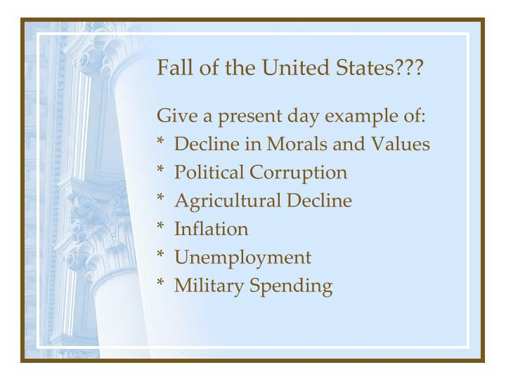 Fall of the United States???