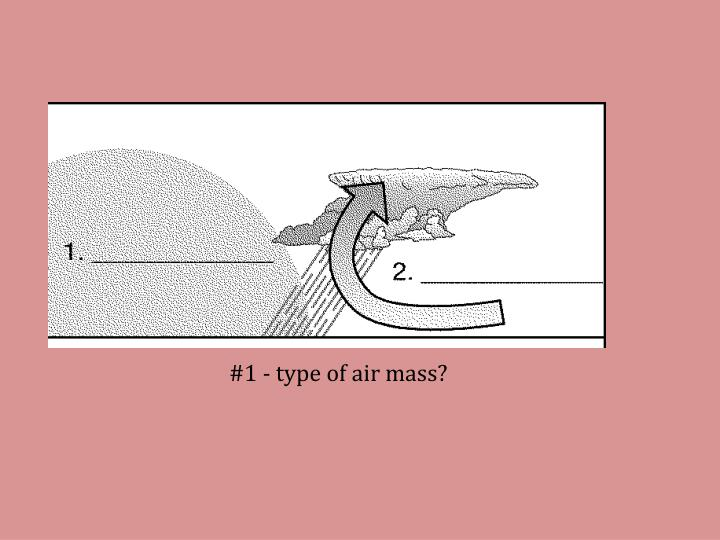 #1 - type of air mass?