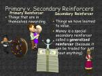 primary v secondary reinforcers