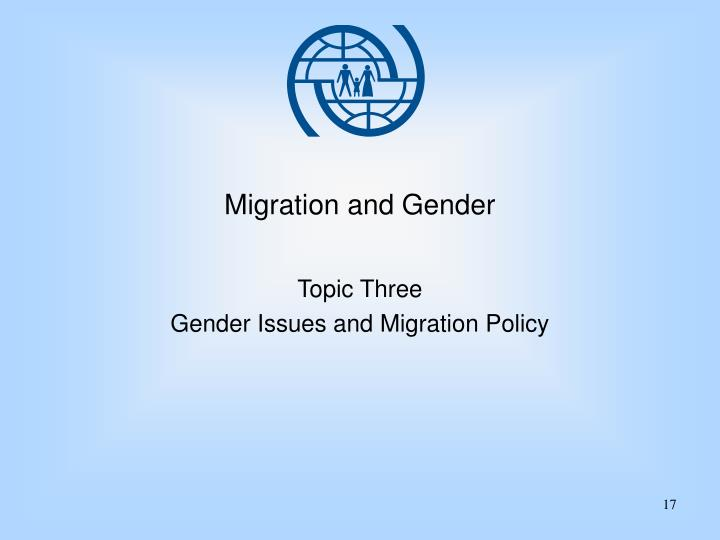 Migration and Gender