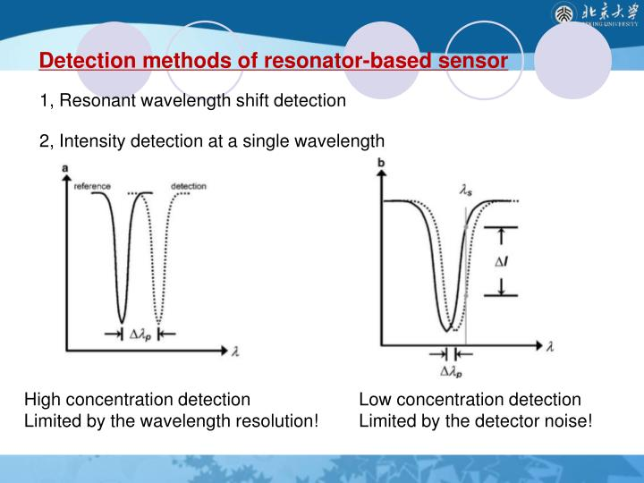 1, Resonant wavelength shift detection