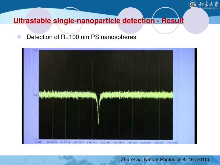 Ultrastable single-nanoparticle detection - Result