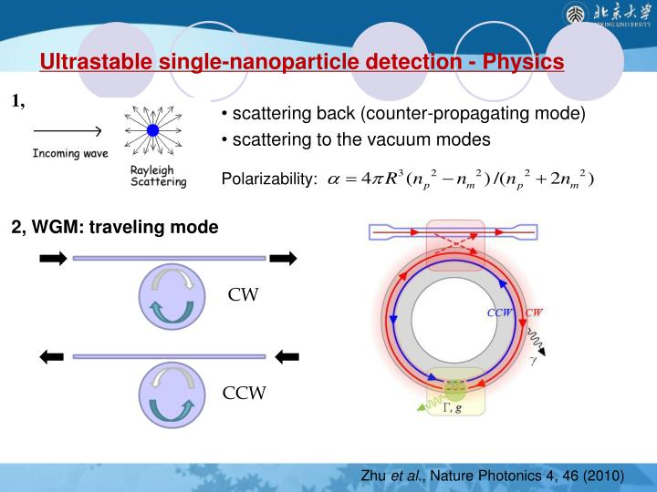 Ultrastable single-nanoparticle detection - Physics