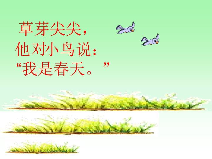 草芽尖尖,