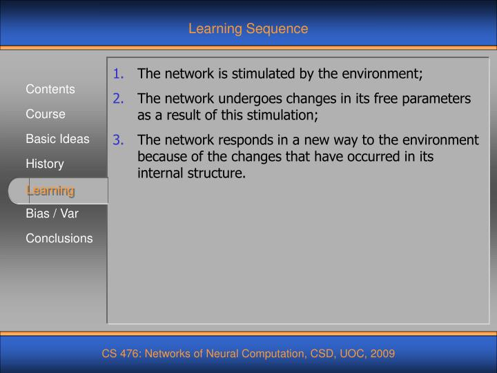 Learning Sequence