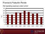 net operating expenses under control