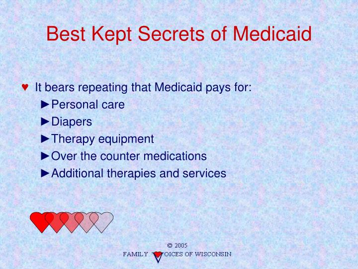 Best Kept Secrets of Medicaid