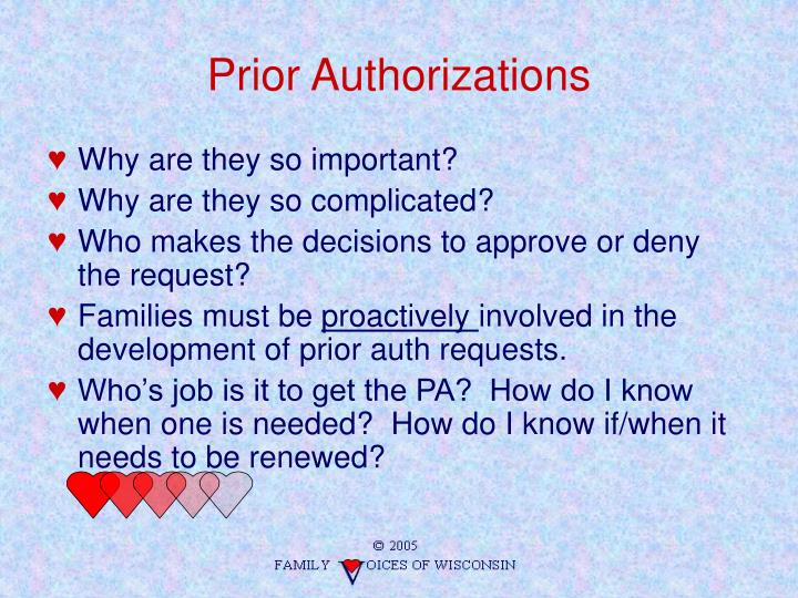 Prior Authorizations