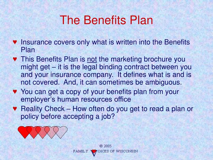 The Benefits Plan
