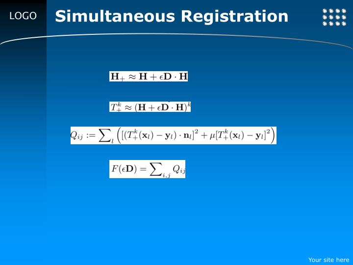 Simultaneous Registration